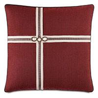 Kilbourn Houndstooth Ribbon Decorative Pillow