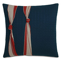 Harbor Knots Decorative Pillow in Red