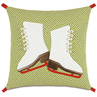 Skates Lasercut Decorative Pillow