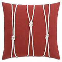 Isle Yacht Knots Decorative Pillow in Scarlet