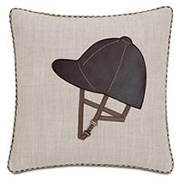 Equestrian Helmet Decorative Pillow