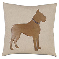 Boxer Applique Decorative Pillow