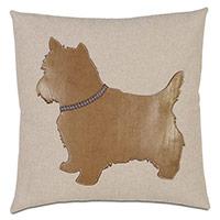 Terrier Applique Decorative Pillow