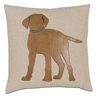 Pup Applique Decorative Pillow