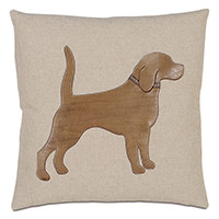 Labrador Applique Decorative Pillow