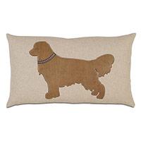 Retriever Applique Decorative Pillow