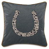 Arcaro Blockprinted Decorative Pillow in Horseshoe