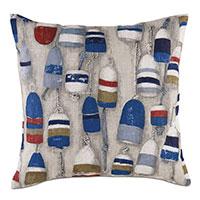 Afloat Buoys Print Decorative Pillow