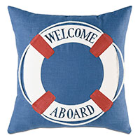 Lifebuoy Handpainted Decorative Pillow