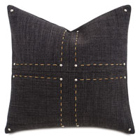 Gilmer Charcoal With Hand Stitch