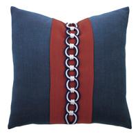 Newport Border Accent Pillow In Indigo