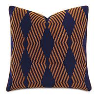 Ladue Geometric Accent Pillow In Indigo