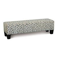 Ocelot Upholstered Bench in Silver