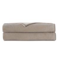 Hansel Flannel Blanket In Bisque