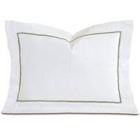 Linea Velvet Ribbon Boudoir In White & Aloe