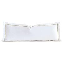 Linea Velvet Ribbon Grand Sham In White & Aloe