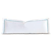 Linea Velvet Ribbon Grand Sham In White & Azure