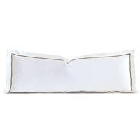 Linea Velvet Ribbon Grand Sham In White & Oliva
