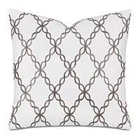 Gideon Embroidered Decorative Pillow