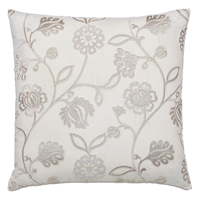 Clarion Embroidered Decorative Pillow