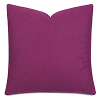 Vincent Textured Decorative Pillow In Raspberry