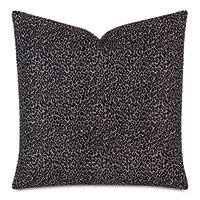 Lynx Animal Print Decorative Pillow In Onyx