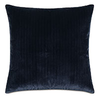 Brock Velvet Decorative Pillow In Indigo
