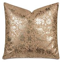 Sessile Metallic Decorative Pillow In Copper