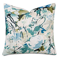 Capella Abstract Decorative Pillow In Teal