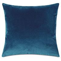 Uma Velvet Decorative Pillow In Blue