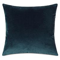 Uma Velvet Decorative Pillow In Pacific