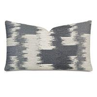 Shea Woven Decorative Pillow In Charcoal