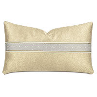 Dunaway Diamond Border Decorative Pillow in Fawn