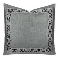 Dax Ovals Decorative Pillow in Black