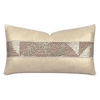 Dax Sequined Tape Decorative Pillow in Gold