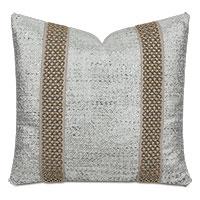 Hebrides Beaded Border Decorative Pillow