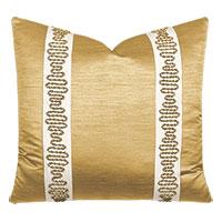 Lucent Metallic Border Decorative Pillow in Gold