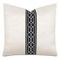 Lucent Trellis Tape Decorative Pillow in Opal