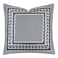 Uma Embroidered Border Decorative Pillow in Gray
