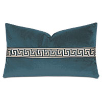 Uma Greek Key Border Decorative Pillow in Pacific