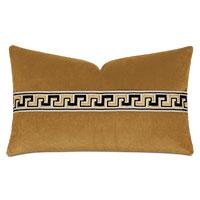 Uma Meander Border Decorative Pillow in Gold