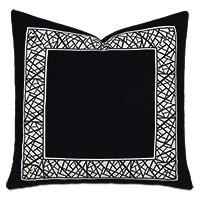 Xavier Graphic Border Decorative Pillow