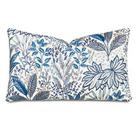 Cummings Embroidered Decorative Pillow in Coastal