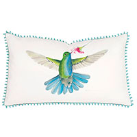 Blue-Chested Hummingbird Hand-Painted