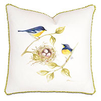 Yellow Throated Finches Hand-Painted