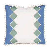 Seaview Diamond Decorative Pillow