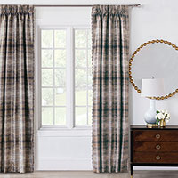 Imogen Metal Curtain Panels Left