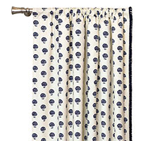 Nile Ink Curtain Panel (Left)