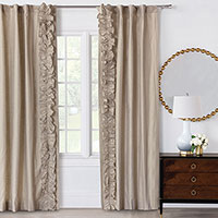 Reflection Gold Curtain Panel Left