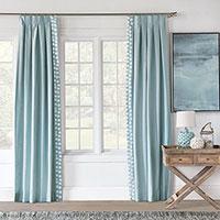 Bimini Graphic Curtain Panel Right
